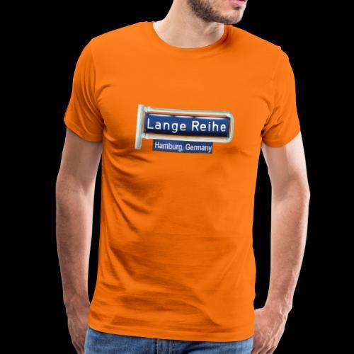 Straßenschild Lange Reihe, Hamburg-St. Georg - Männer Premium T-Shirt
