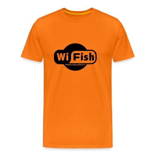 T-shirt Premium Homme - Restez connecté à Culture Fish...