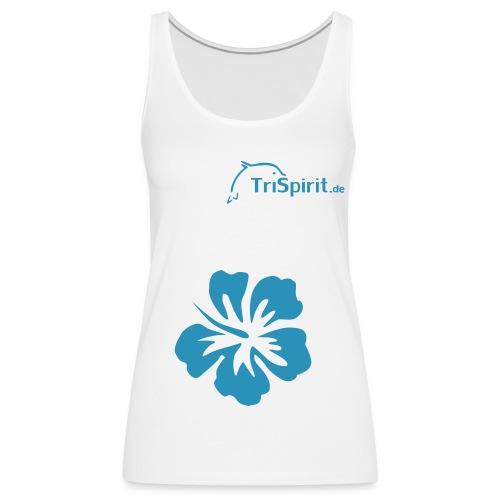Cordula Tank mit grosser Blume, blaues Logo no print on back - Frauen Premium Tank Top