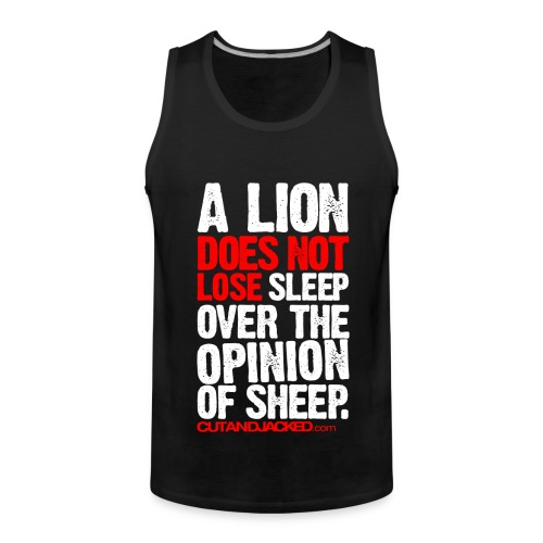 A lion does not lose |  Mens Sleeveless - Men's Premium Tank Top