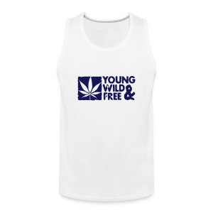 young wild and free weed leaf boxed Magliette - Canotta premium da uomo