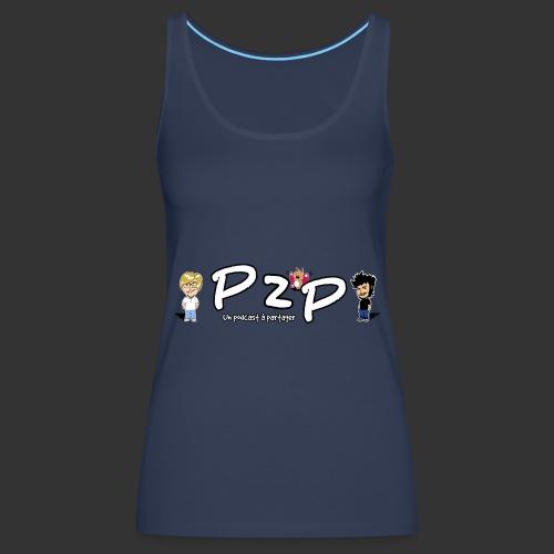 P2P logo Saison 3-femme - Débardeur Premium Femme
