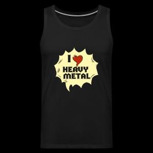 I love Heavy Metal - Männer Premium Tank Top