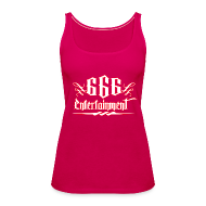 Tops ~ Frauen Premium Tank Top ~ 666 Entertainment Logo 1Girl Top