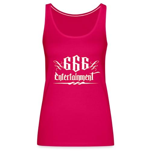 666 Entertainment Logo 1Girl Top - Frauen Premium Tank Top