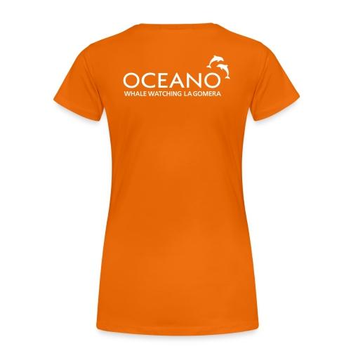 OCEANO Shirt Buckelwal - Frauen Premium T-Shirt