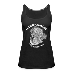InTEKKnation year one edition -weiss-    - Frauen Premium Tank Top
