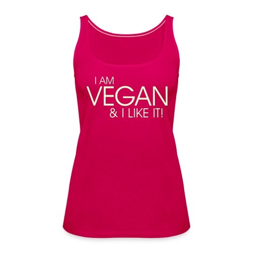 I am vegan and I like it - Frauen Premium Tank Top