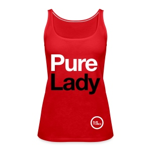 Pure Lady (White/Black) [Female] - Women's Premium Tank Top