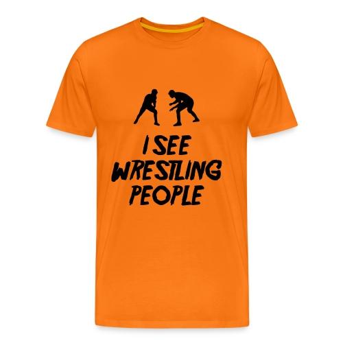 Wrestling People / Fist light T-shirt - Men's Premium T-Shirt