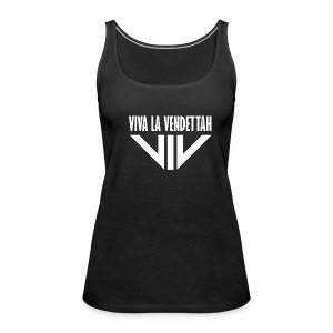 Vrouwen Premium tank top - Viva la Vendettah (Black & White)