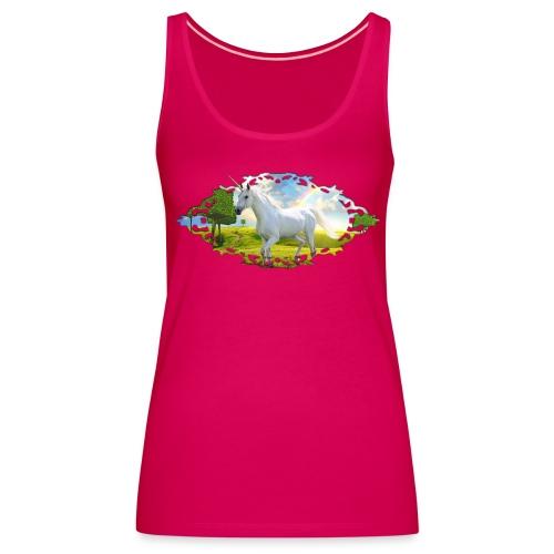 Unicorn Landscape rose - Vrouwen Premium tank top
