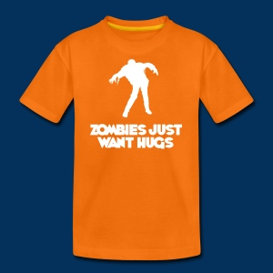 Zombies just want hugs (Teen) - Teenage Premium T-Shirt