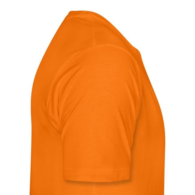 American Apparel Bock Orange / neongelb vertikal