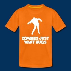 Zombies just want hugs (Kids T-Shirt) - Kids' Premium T-Shirt