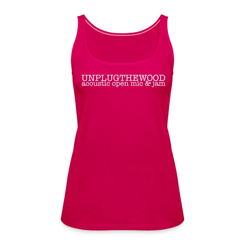 Unplug The Wood Top - ladies 1 - Women's Premium Tank Top