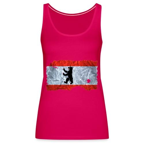 Berlin Flagge vintage shirt used look - Frauen Premium Tank Top
