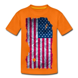 USA Flagge vintage used look - Teenager Premium T-Shirt