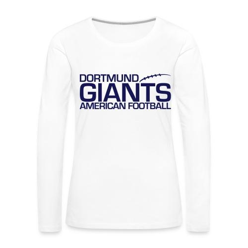 Damen T-Shirt langarm weiß - Frauen Premium Langarmshirt