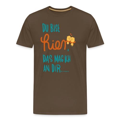 Ich mag Dich (blau, Mann) - Männer Premium T-Shirt