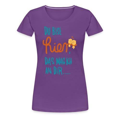 Ich mag Dich (blau, Frau) - Frauen Premium T-Shirt