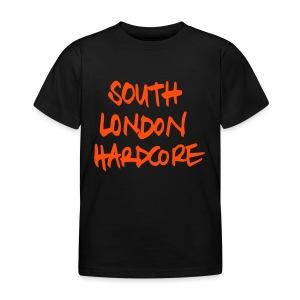 handwritten orange text KID's - Kids' T-Shirt