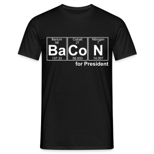 Bacon for President (you can change text) - Men's T-Shirt