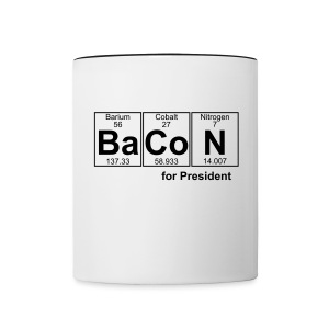 Bacon for President (you can change text) - Contrasting Mug