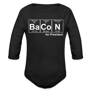 Bacon for President (you can change text) - Longlseeve Baby Bodysuit