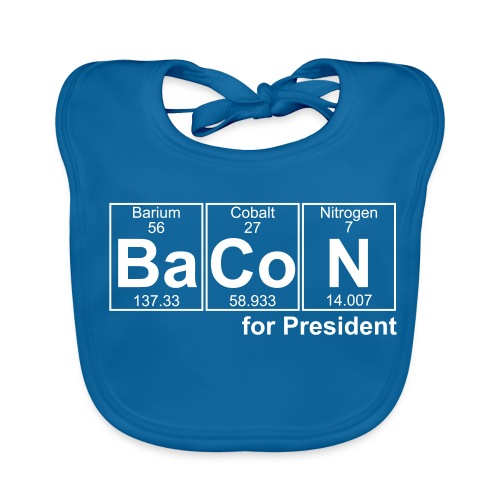 Bacon for President (you can change text) - Baby Organic Bib