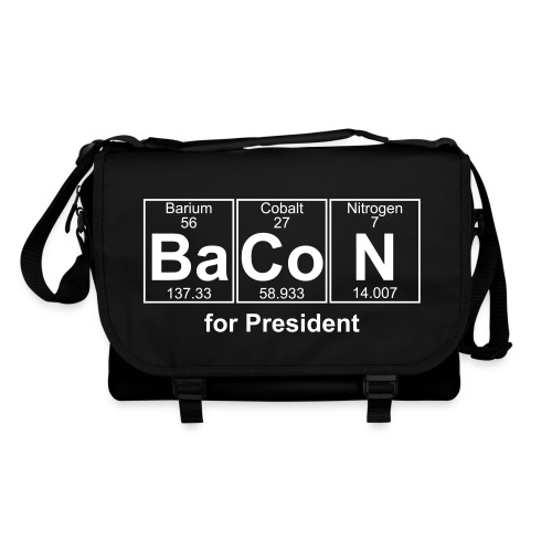 Bacon for President (you can change text) - Shoulder Bag