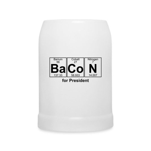 Bacon for President (you can change text) - Beer Mug