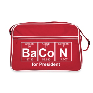 Bacon for President (you can change text) - Retro Bag