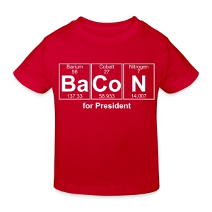 Bacon for President (you can change text) - Kids' Organic T-shirt