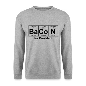 Bacon for President (you can change text) - Men's Sweatshirt