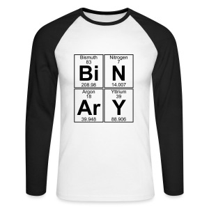 Bi-N-Ar-Y (binary) - Men's Long Sleeve Baseball T-Shirt