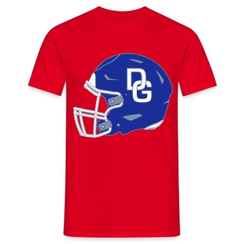 Herren T-Shirt Helm einseitig Rot - Männer T-Shirt