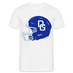 Herren T-Shirt Helm zweiseitig Weiß - Männer T-Shirt