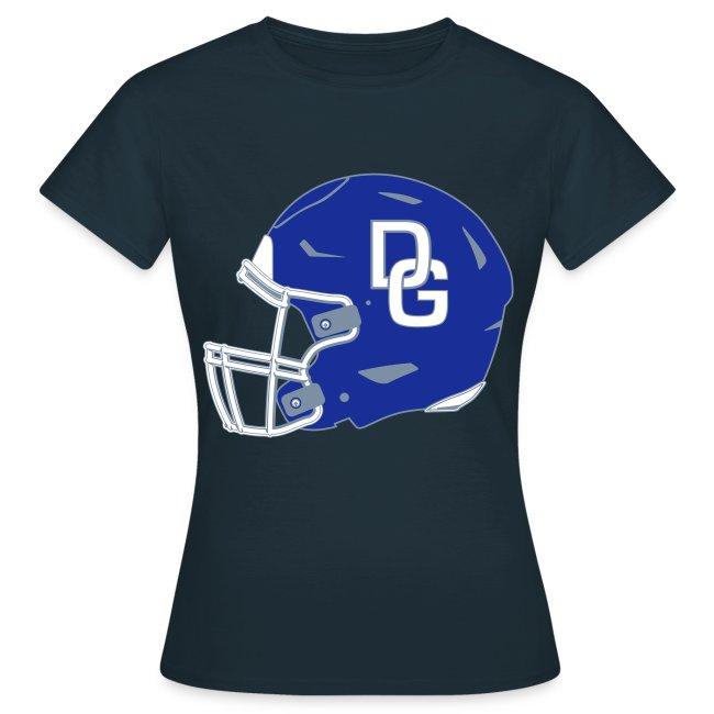 """Damen T-Shirt """"Helm"""" zweiseitig Navy"""