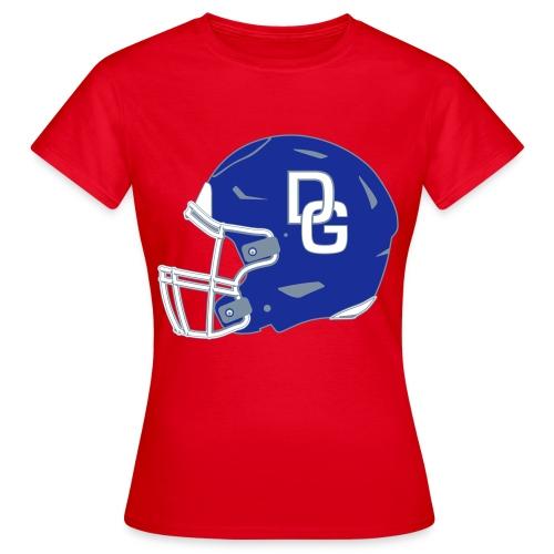 Damen T-Shirt Helm zweiseitig Rot - Frauen T-Shirt