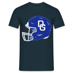 Herren T-Shirt Helm zweiseitig Navy - Männer T-Shirt