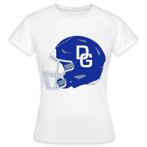 Damen T-Shirt Helm zweiseitig Weiß - Frauen T-Shirt