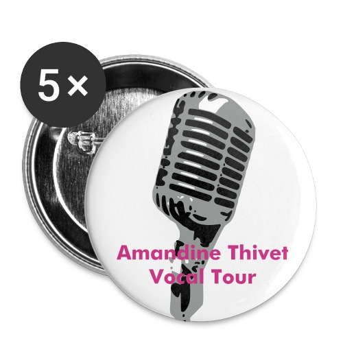 Badge Amandine Vocal Tour - Badge grand 56 mm