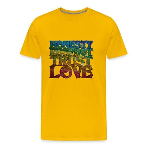 Honest, Respect, Trust, Love - Männer Premium T-Shirt