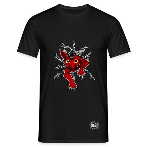 Huch?!- Drachi Dragon stuck rot/red beidseit. Druck - Männer T-Shirt