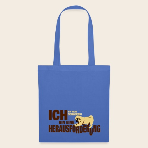 Mops Herausforderung Stofftasche - Stoffbeutel