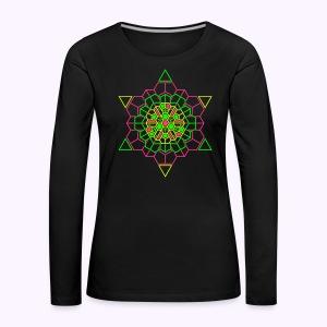 Cosmic Crystal Front print - Maglietta Premium a manica lunga da donna