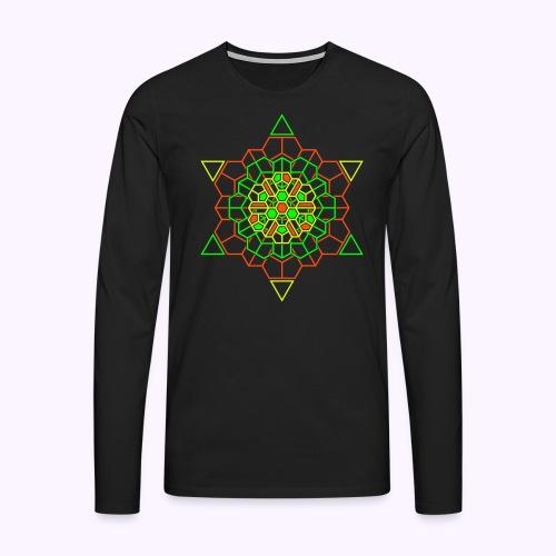Cosmic Crystal Front print - Men's Premium Longsleeve Shirt