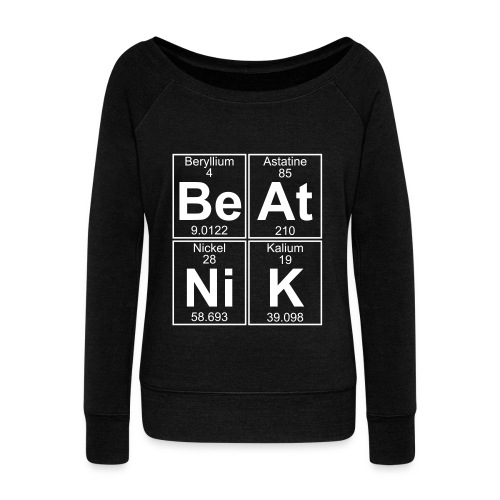 Be-At-Ni-K (beatnik) - Women's Boat Neck Long Sleeve Top