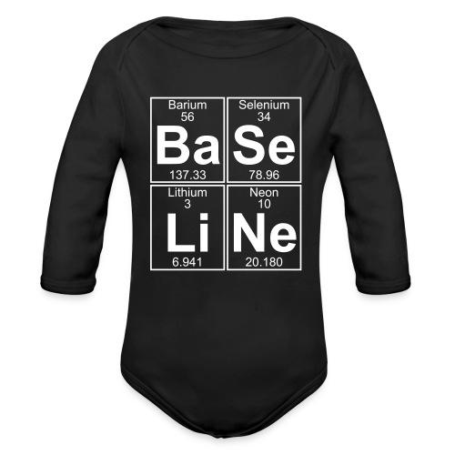 Ba-Se-Li-Ne (baseline) - Organic Longsleeve Baby Bodysuit